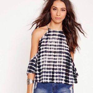 NWT! Missguided Tie Dye Cold Shoulder Tank